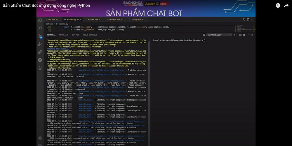 [Video] Sản phẩm Chat Bot ứng dụng công nghệ Python