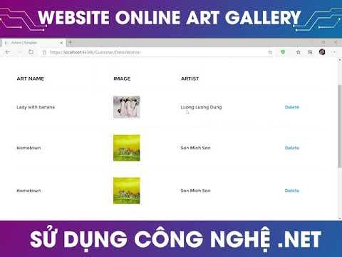Website Online Art Gallery