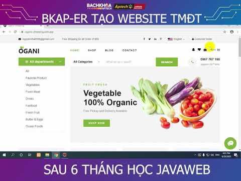 WEBSITE BÁN RAU CỦ SẠCH