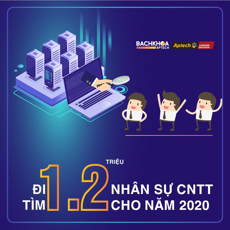 Đi tìm 1,2 triệu nhân lực cho ngành CNTT vào năm 2020